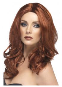 Superstar Auburn Long Wavy Costume Wig