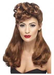 40s Auburn Vintage Costume Wig