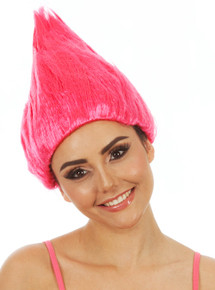 Pink Troll Doll Costume Wig (child/adult)