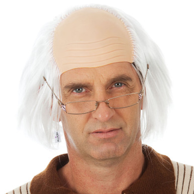 Grandpa Old Man White Grandad Bald Costume Wig