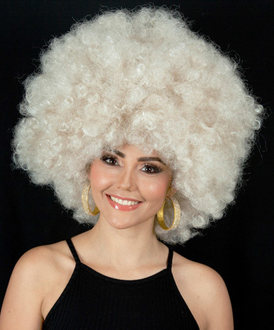 Super Jumbo Dark Blonde 70's Afro Disco Costume Wig (High Quality)