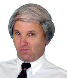 Old Man Bald Combover Grey Costume Wig