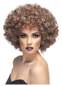 Natural Brown Curly Afro Wig
