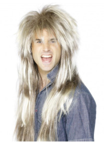 Blonde and Brown 80's Mega Mullet Costume Wig