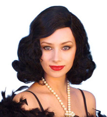 Marlene 1920s Flapper Black Costume Wig
