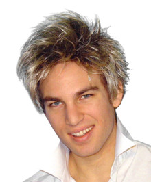 Spunky Guy Blonde with Dark Roots Costume Wig
