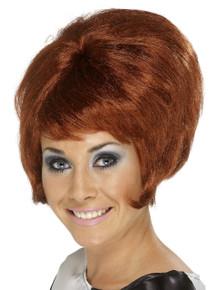 60's Beehive Wig, Auburn, Short