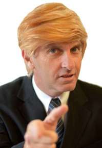 Donald Trump Wig US President Mens Costume Wiga - by Allaura