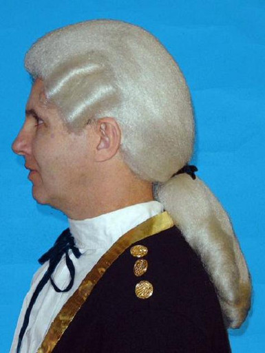 18th Century Colonial George Washington Costume Wig