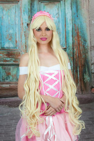 DELUXE Rapunzel Inspired Extra Long Blonde Costume Wig - by Allaura (D)