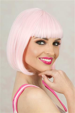 Deluxe Long Bob (Light Pink) Costume Wig