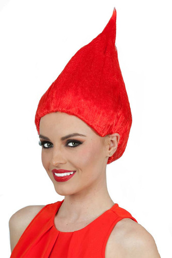 Red Troll Doll / Gnome Costume Wig