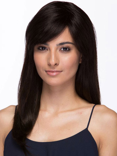 DELUXE Mariam (Natural Black) Brazilian Remy Natural Human Hair Wig by Elegante