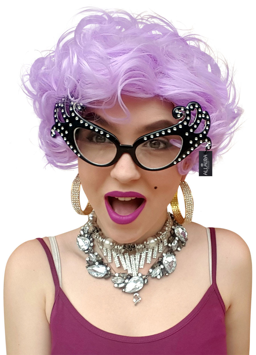 Dame Edna Wig Purple Old Lady Womens Costume Wigs - by Allaura - The ... 8f7d6df9da