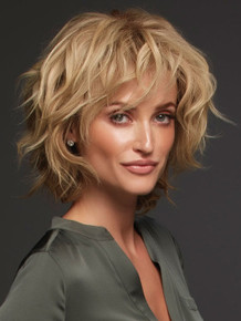 Sophia - Human Hair Lace Front Monofilament Shag Wig - by Jon Renau