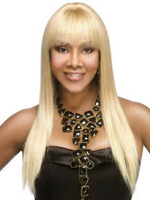"H157-V - 100% Human Hair 24"" Long Straight Wig"
