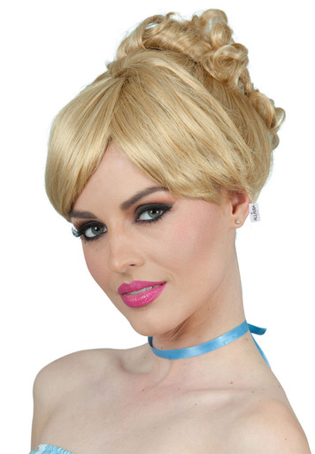 Cinderella Inspired Blonde Bun Costume Wig - by Allaura