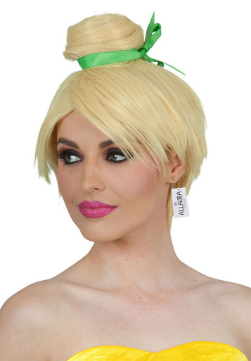 Tinkerbell Inspired Blonde Bun Costume Wig - by Allaura