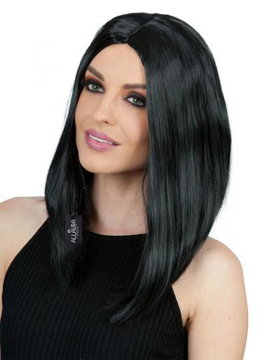 Long Black Bob Costume Wig - by Allaura
