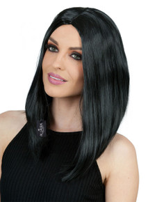 Long Black Bob Costume Wig - by Allaura