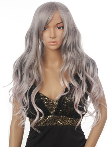 BLAIRE - DELUXE Silver Grey Wavy Long Fashion Wig - by Allaura
