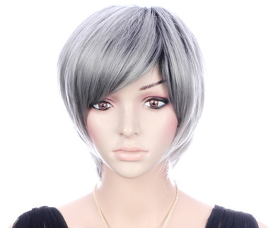 LOLA - DELUXE Silver Grey Ombre Pixie Fashion Wig - by Allaura