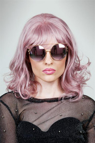 NOVA - DELUXE Dusty Pink Wavy Fashion Wig - by Allaura