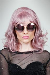 NOVA - DELUXE Dusty Pink Wavy Fashion Wig - by Allaura