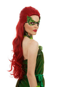 Poison Ivy Long Red Womens Costume Wig - by Allaura