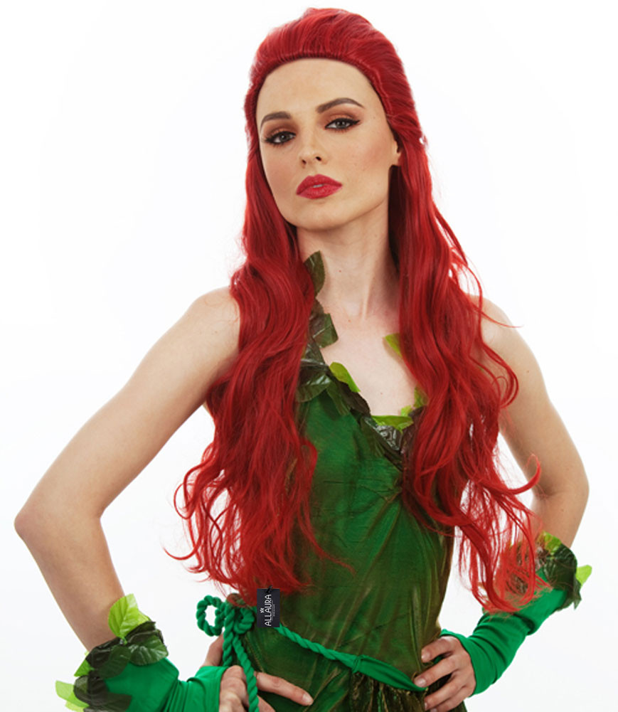 Lethal Vixen (Poison Ivy Wig) Long Red Womens Girls Cosplay Costume ... 6a2fa40f22