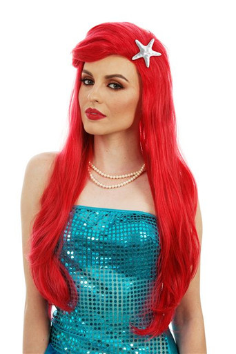 Ariel Long Red Womens Costume Wig - by Allaura