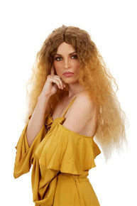 Beyonce Lemonade Long Blonde Brown Waves Womens Costume Wig - by Allaura
