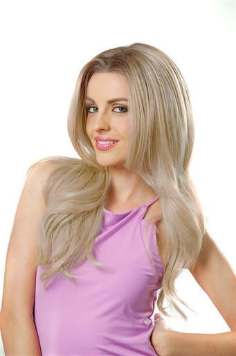 Pamela Anderson Gorgeous Long Blonde with Dark Roots Womens Costume Wig - by Allaura