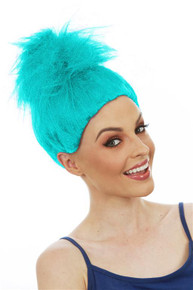 Aqua Troll Doll / Gnome Fluffy Costume Wig - by Allaura