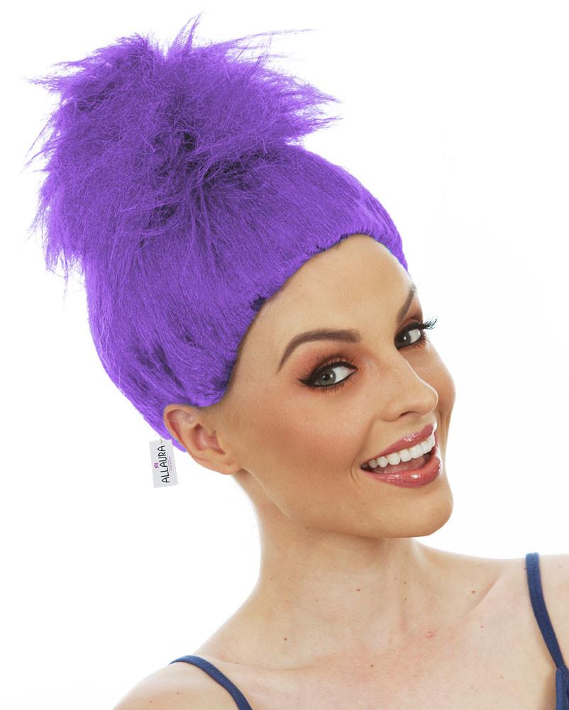 Purple Troll Wig Doll Gnome Fluffy Womens Kids Costume Wigs - by ... eff38e110e
