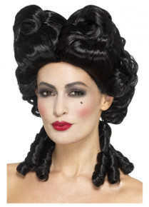 Gothic Baroque Geisha Vintage Black Costume Wig