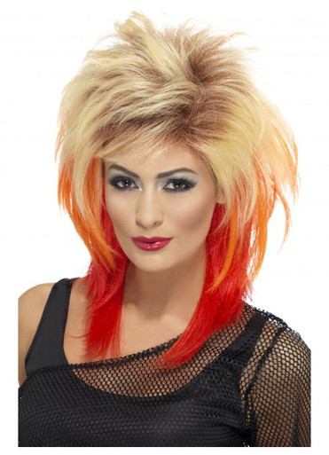 Cindy Lauper 80's Mullet Costume Wig