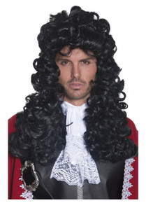 Black Pirate Captain Hook or Colonial 1700's Judge Wig