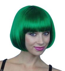 Deluxe Classic Emerald Green Bob Costume Wig