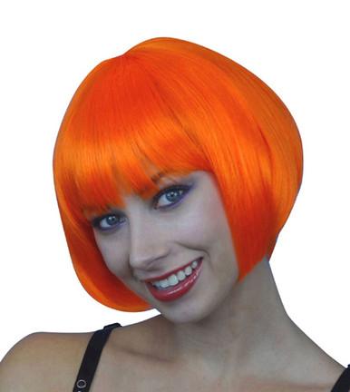 Deluxe Classic Orange Bob Costume Wig