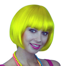 Deluxe Classic Orange Bob Costume Wig