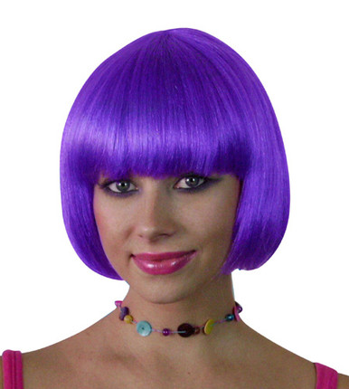 Deluxe Classic Purple Bob Costume Wig