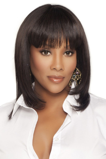 "H202-V - 100% Human Hair 17"" Layered Straight Wig - by Vivica Fox"