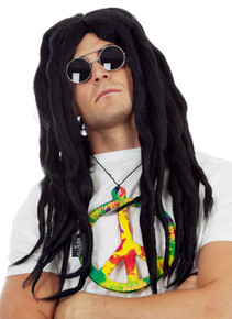 Rasta Dreadlocks Hippie Black Bob Marley Style Costume Wig