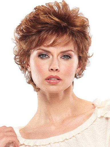 Peaches - Short Layered Curly Wig 27T33B - by Jon Renau