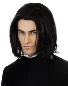 Dark Wizard (Severus Snape) Black Mens Boys Costume Wig - by Alluara