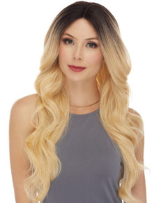 ALISON - Human Hair Blend Heat Resistant Long Wavy Wig - by Love It