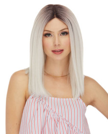 DOVE - Human Hair Blend Heat Resistant Trendy Blunt Bob Wig - by Love It