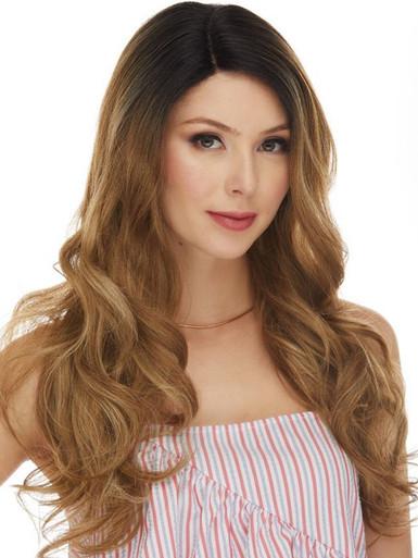SELENA - Human Hair Blend Heat Resistant Soft Waves Wig - by Love It