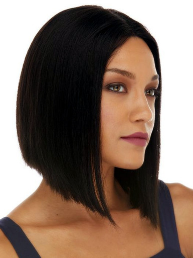 JACQUELINE - 100% Black Remy Brazilian Human Hair Lace Front Wig - By Elegante